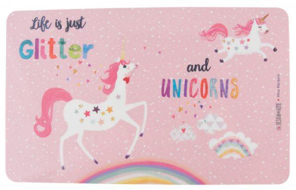 "Frühstücksbrettchen ""Glitter and Unicorns"""